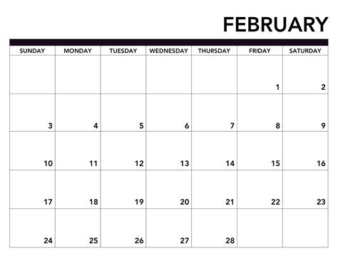 51+ {free} February 2019 Printable Calendar Templates Pdf