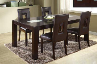 400 saginaw furniture extensol convertable d043dt dining 5pc set w dg072dc brown chairs by global