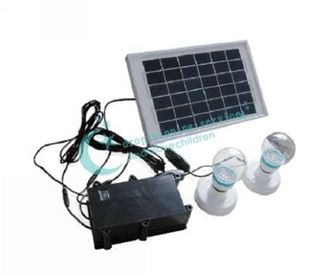 small scale solar power generation system home lighting 5w