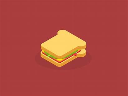 Sandwich Mouldy Cartoon 2d Illustration Dribbble Vector
