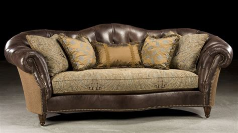 leather and fabric sofa sleek tufted leather fabric sofa