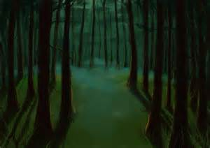 Scary Forest Drawing