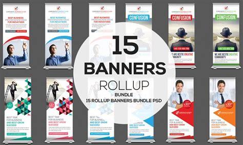 mulipurpose rollup banners bundle creativemarket