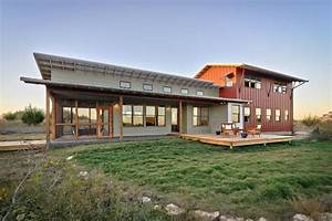 metal building facade exterior rustic with eaves panel