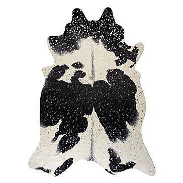 Faux Cowhide Rug Black And White - ayi metallic faux cowhide rug black silver faux