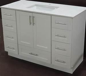 54 single solid wood bathroom vanity with bottom drawer With bathroom vanity with bottom drawer