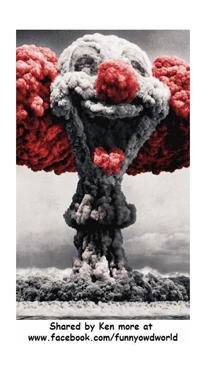 Clown Atomic Cloud Mushroom Nuclear Der Scary