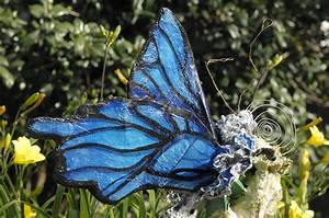 Hand Made Papier Mache Butterfly Christmas Tree Topper by