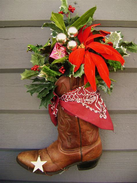 cowboy christmas decorating ideas reserved for cowboy front door decor