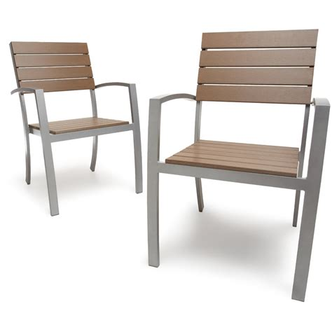 chaise avec accoudoirs strathwood brook set de 2 chaises de jardin avec