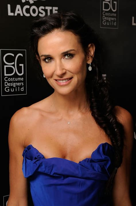 demi moore side french fishtail braid hairstyle  long
