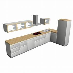 Küchenzeile L Form : k chenzeile l form einrichten planen in 3d ~ Bigdaddyawards.com Haus und Dekorationen