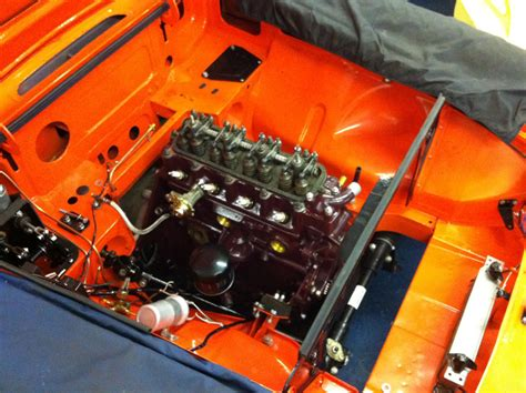 cck historic orange mgb gt build