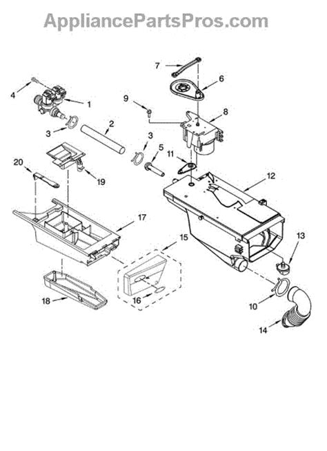 Parts For Whirlpool Wfwsw Dispenser