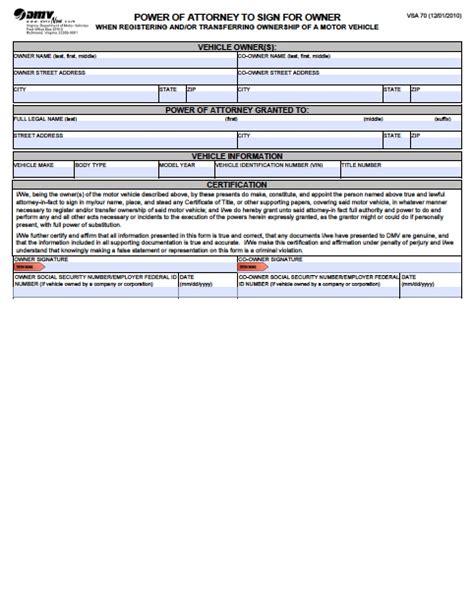 virginia power of attorney form pdf virginia vehicle power of attorney form power of