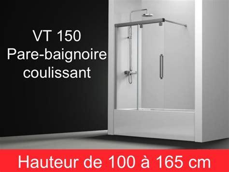 Pare Baignoire Coulissant Parois De Largeur 160 Pare Baignoire Coulissant 160 Cm Fixation 224 Gauche Hauteur De