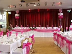hot pink wedding decorations done at the fry club keynsha With pink decorations for weddings