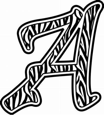 Zebra Letters Clip Animal Clipart Printable Alphabet