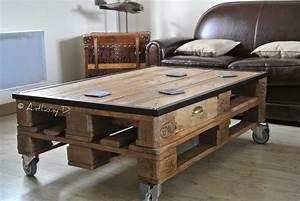 Plan De Table Palette : tiroir pour table basse palette ~ Dode.kayakingforconservation.com Idées de Décoration