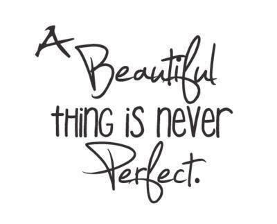Bevs World: It's perfectly fine to be flawed!