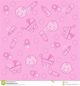 Baby girl background stock vector. Image of arrival ...