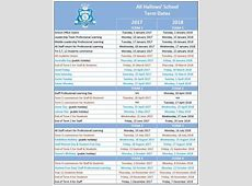 Term Dates All Hallows' School