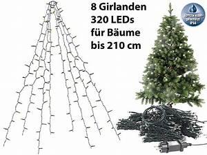 Lichterkette Tannenbaum Innen : lunartec christbaum led berwurf weihnachtsbaum berwurf lichterkette mit 8 girlanden 320 ~ Frokenaadalensverden.com Haus und Dekorationen