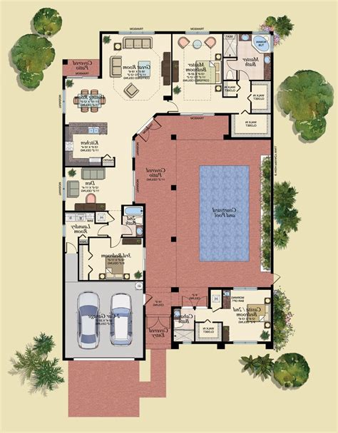 courtyard house plans small house plans with courtyards south house plans