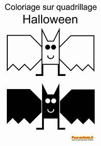 Dessin Facile Halloween : coloriage sur quadrillage halloween dessin de chauve ~ Melissatoandfro.com Idées de Décoration