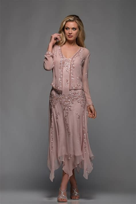 Plus Size Tea Length Mother Of The Bride Dresses With Sleeves   Bridesmaid Dresses