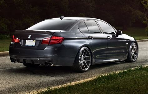 Bmw 5 Series Sedan Backgrounds by Wallpaper Road Grass Trees Background Black Tuning
