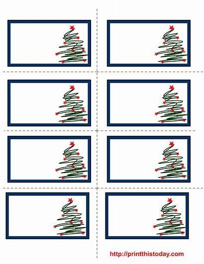Labels Christmas Printable Tree Trees Chrismas Printthistoday