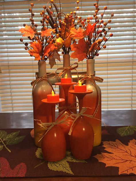 Cheap Fall Dcor Tree Wine Glasses Painted Orange