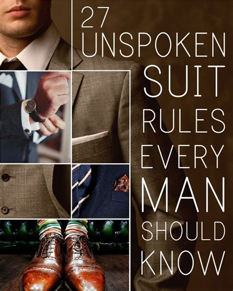 27 Unspoken Suit Rules That Every Man Should Know Alldaychic