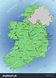Vector Map Ireland Republic Ireland Map Stock Vector ...