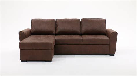 canapé d 39 angle 3 4 places convertible aspect cuir vieilli