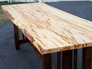 Wormy Maple Live Edge Table Live Edge Conference Table