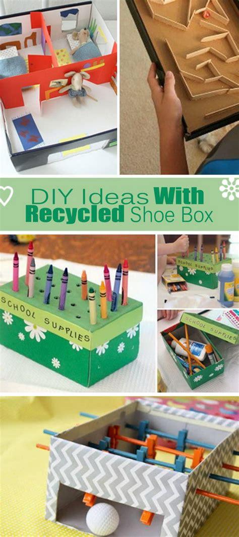 diy ideas  recycled shoe box hative