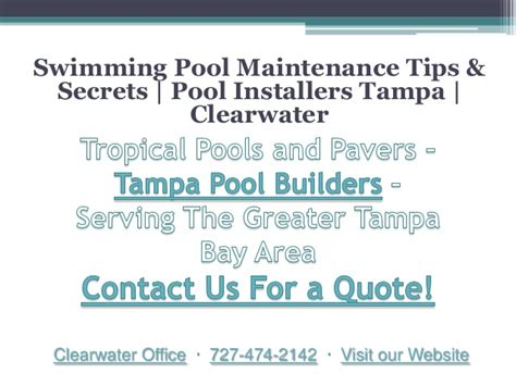 Swimming Pool Maintenance Tips & Secrets