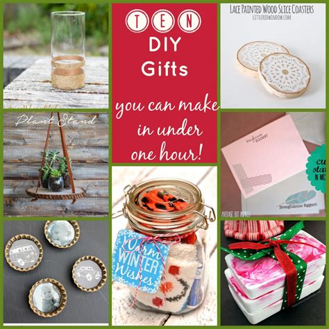 10 diy gifts that you can make in under one hour