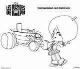 Ralph Wreck Coloring Pages Snowanna Mondes Les Rainbeau Fudge Characters Sheets Disney Template sketch template