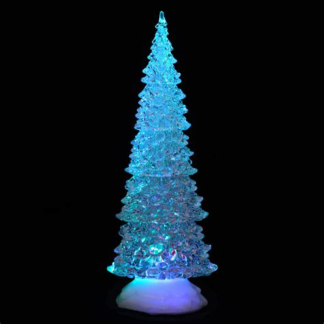 battery operated colour changing led acrylic tall tree