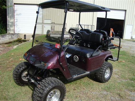 Golf Cart Painted Black Cherry, Long Travel Suspension By