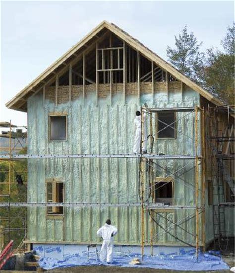 insulating  exterior spray foam jlc