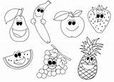 Fruit Coloring Happy Pages Printable sketch template
