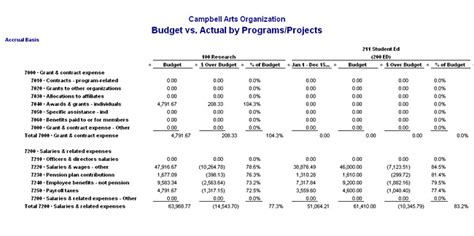 budget  actual template budget template