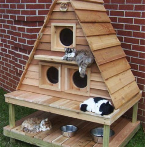 cat house designs outdoor cat house contemporary outdoor cat house