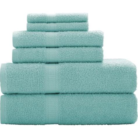 bath towel sets at walmart mainstays basic 6 towel set walmart