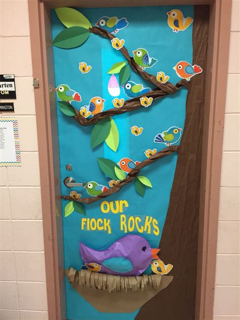 bird themed classroom door classroom decor classroom