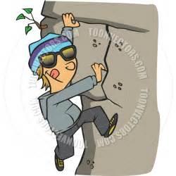 Rock Climbing Cartoon Clip Art